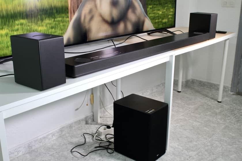 Dimensiones barra de sonido LG SN11RG