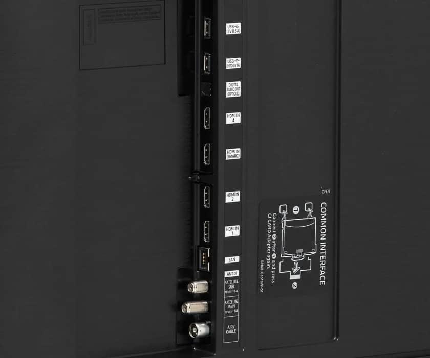 Conexiones Samsung Q80T HDMI 2.1 en puerto 4