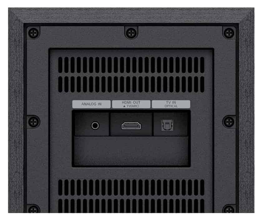 Conexiones barra de sonido serie S40R