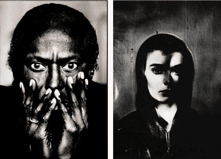 Anton Corbijn, Miles Davis Toronto, 1985 and Sinead O'Connor Spin Cover, 1990. © Anton Corbijn