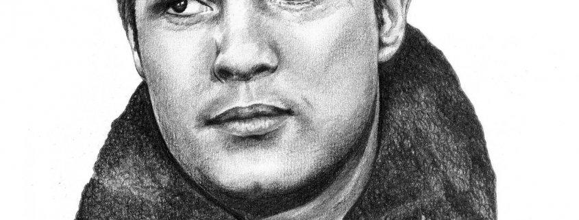 Pencil Portrait of Marlon Brando