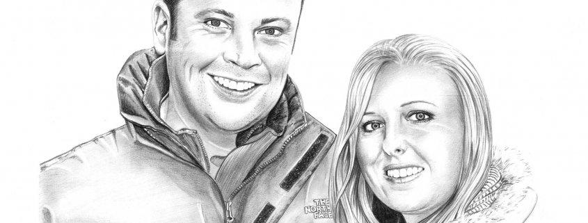 Pencil Portrait of Couple