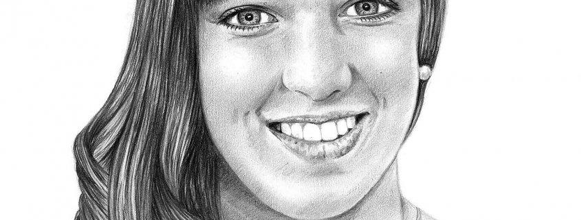 Pencil drawing of Teenage Girl