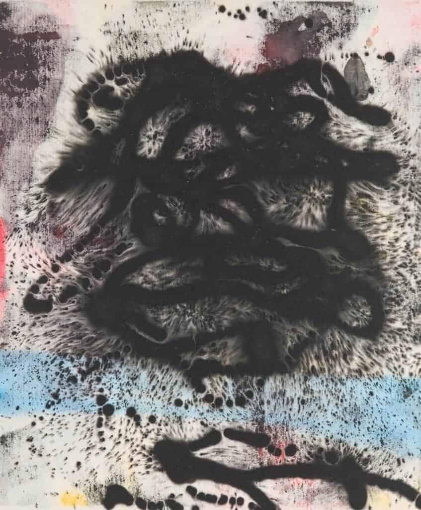 Ed Moses, Samba, 2008. Acrylic on canvas. Courtesy of JD Malat Gallery.