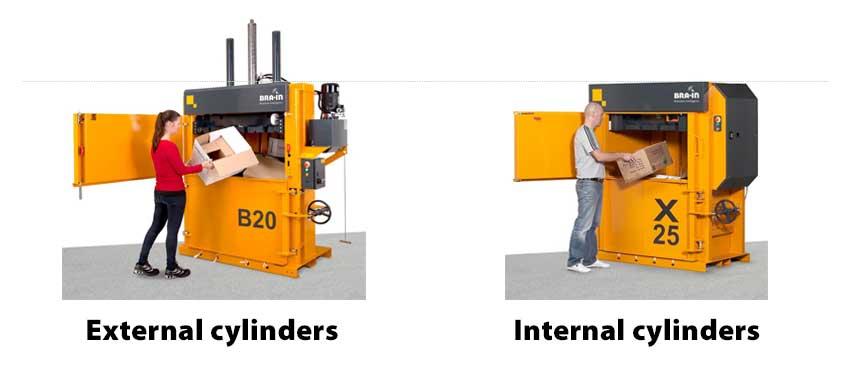 cardboard-baler-external-or-internal-cylinder