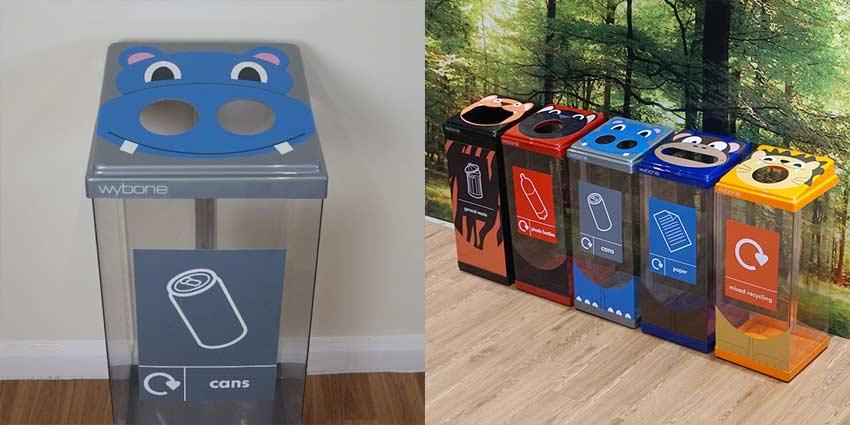 Box-Cycle-Animal-Character-Face-Recycling-Bin