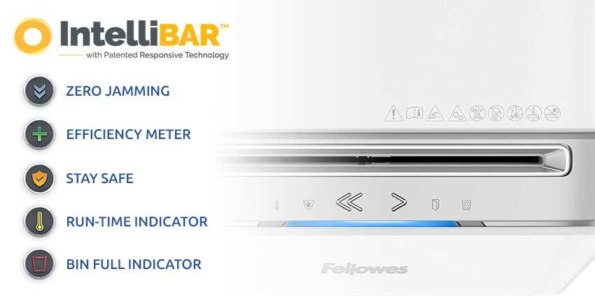 Fellowes-Powershred-LX-Series-Intellibar-Features