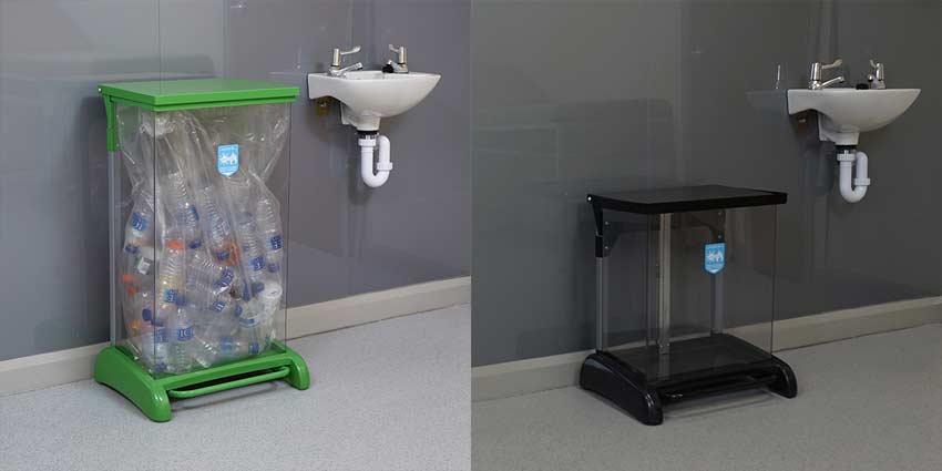 Hands-Free-Hybrid-Recycling-Bin