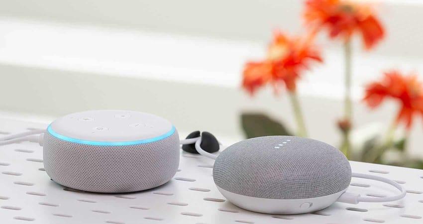 Amazon-Echo-Google-Home-Mini-speakers