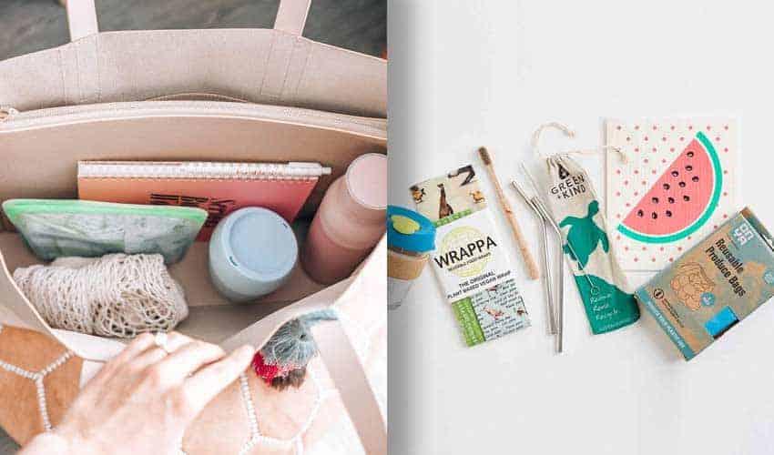 hand-bag-reusable-items-shopping-straws-toothbrush-produce-bags