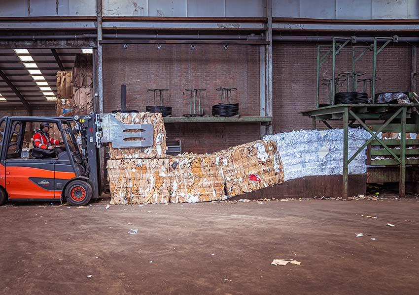 bales-of-compressed-cardboard