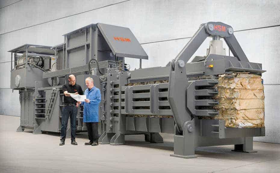 hsm-heavy-duty-industrial-open-end-cardboard-baler-single-ram