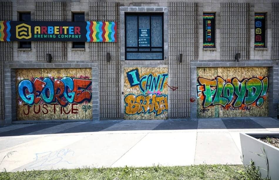 Graffiti seen in response to the killing of George Floyd, Minneapolis.