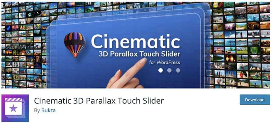 Cinematic 3D Parallax Touch Slider