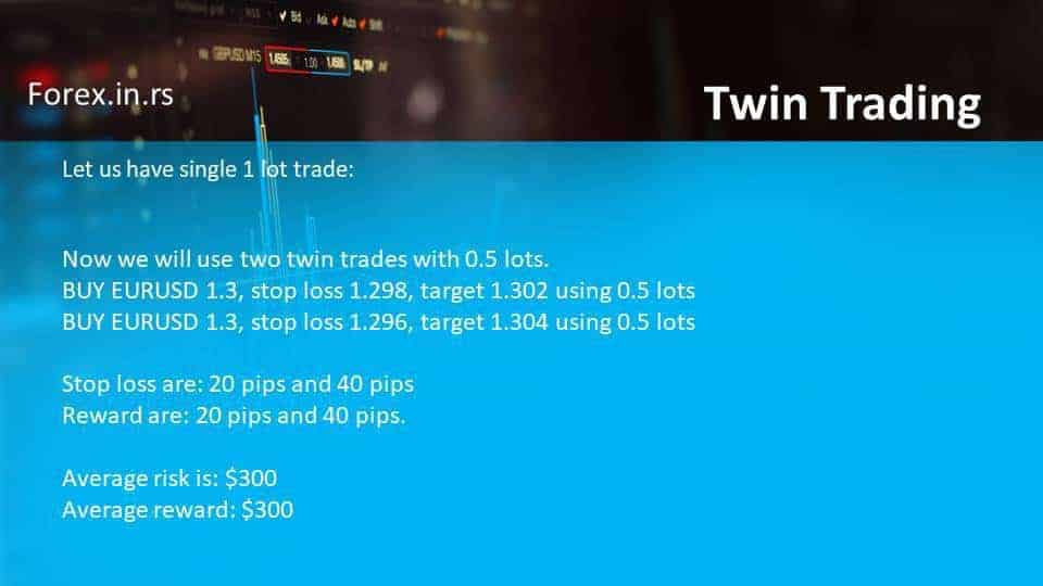 twin trading example two trades