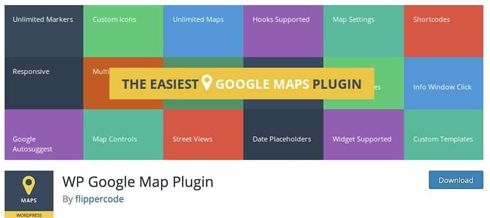 WP Google Map Plugin free plugin