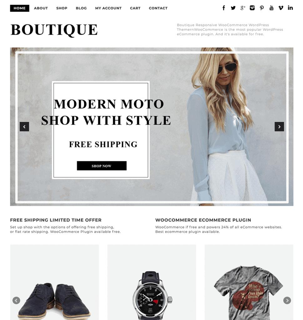 boutique WooCommerce