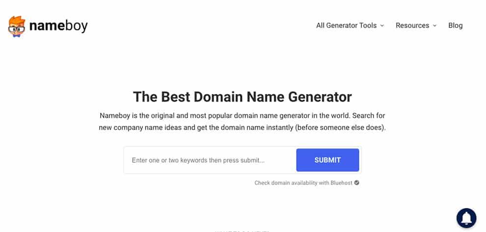 nameboy best free domain name generator