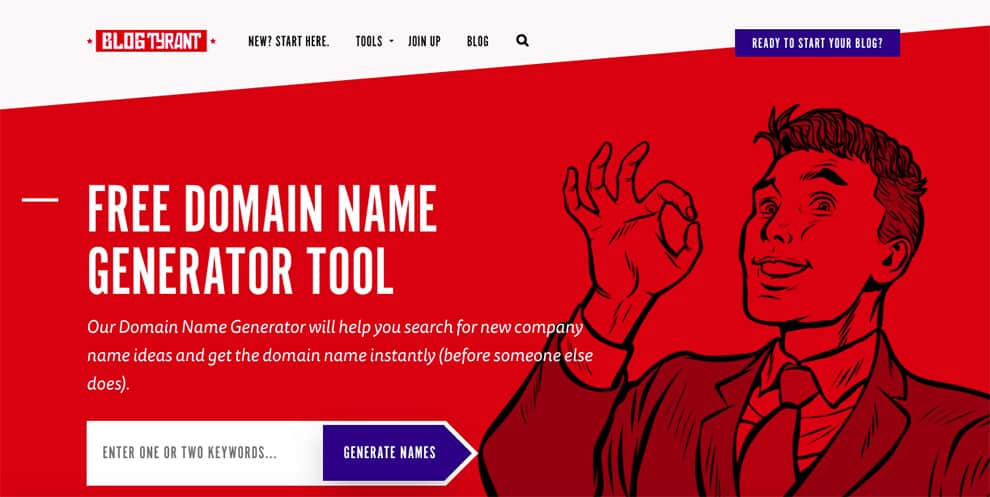 blog tyrant free domain name generator tool