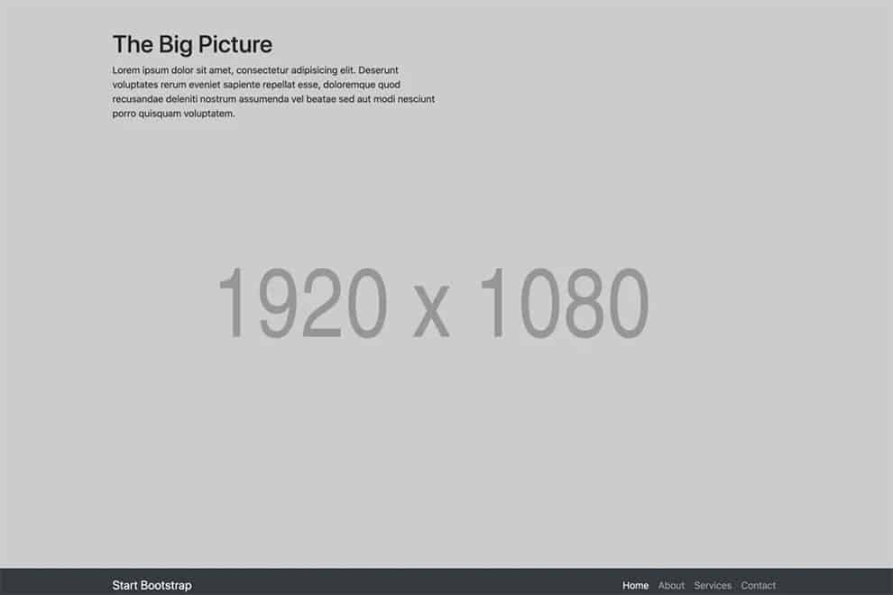 the big picture free portfolio template