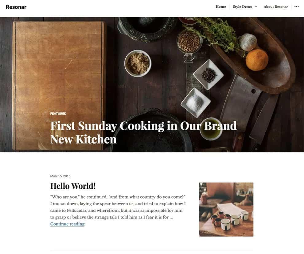 resonar WordPress theme