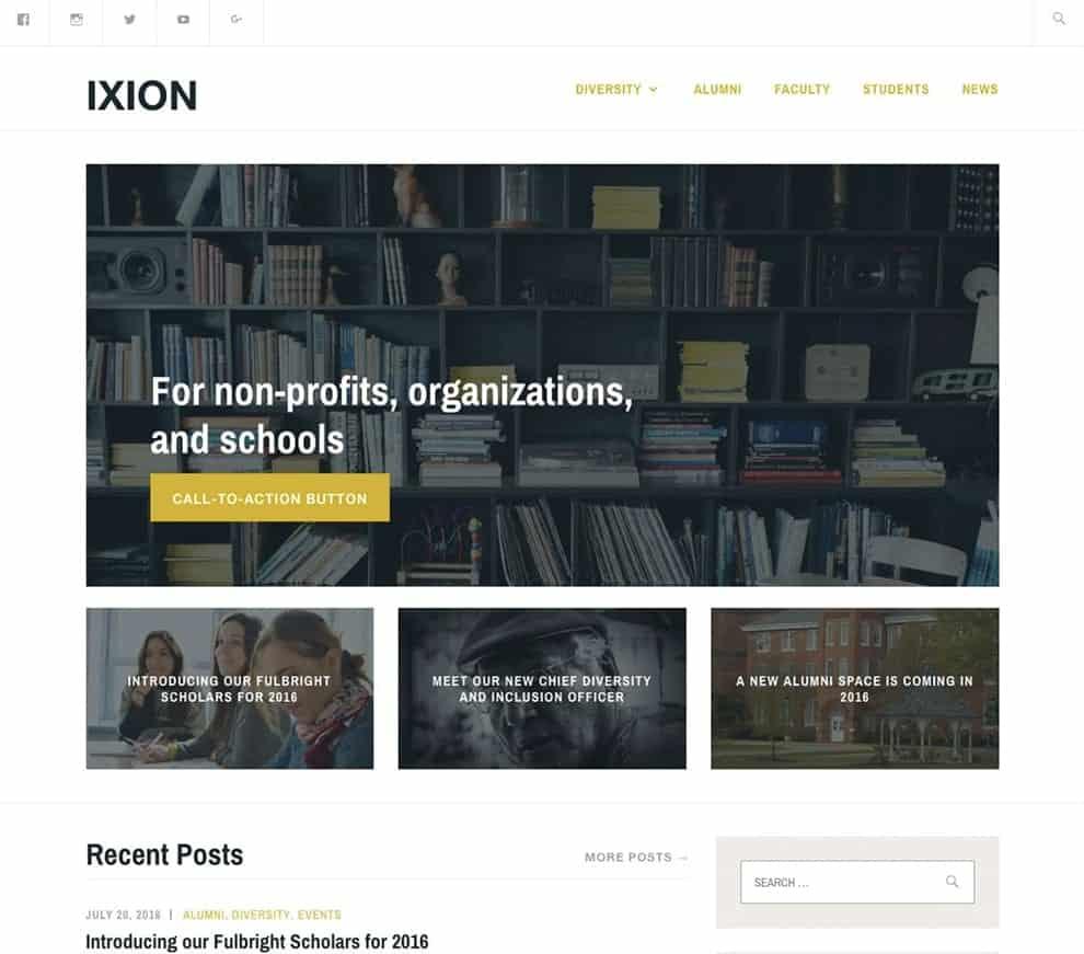 ixion free theme premium