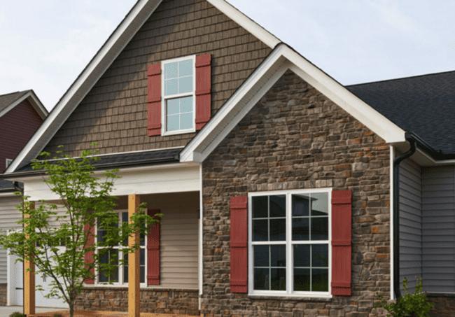 Novik Stone Siding House Example