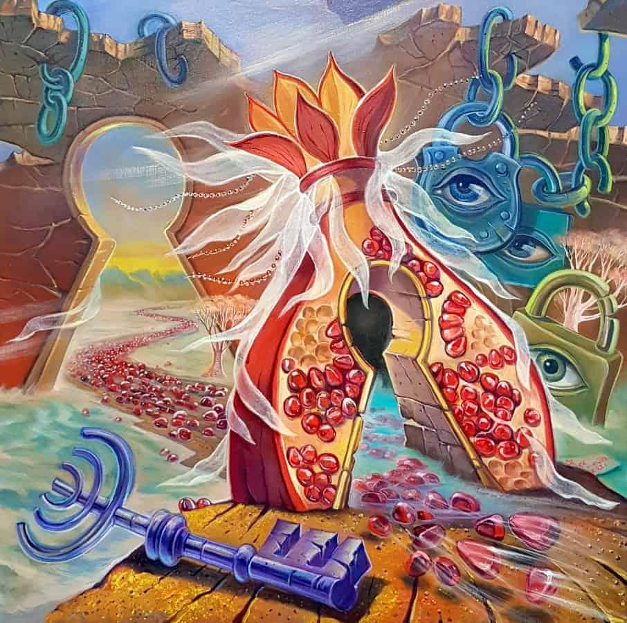 exodus surrealism painting