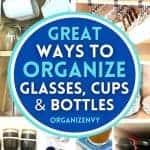 Organize glassware