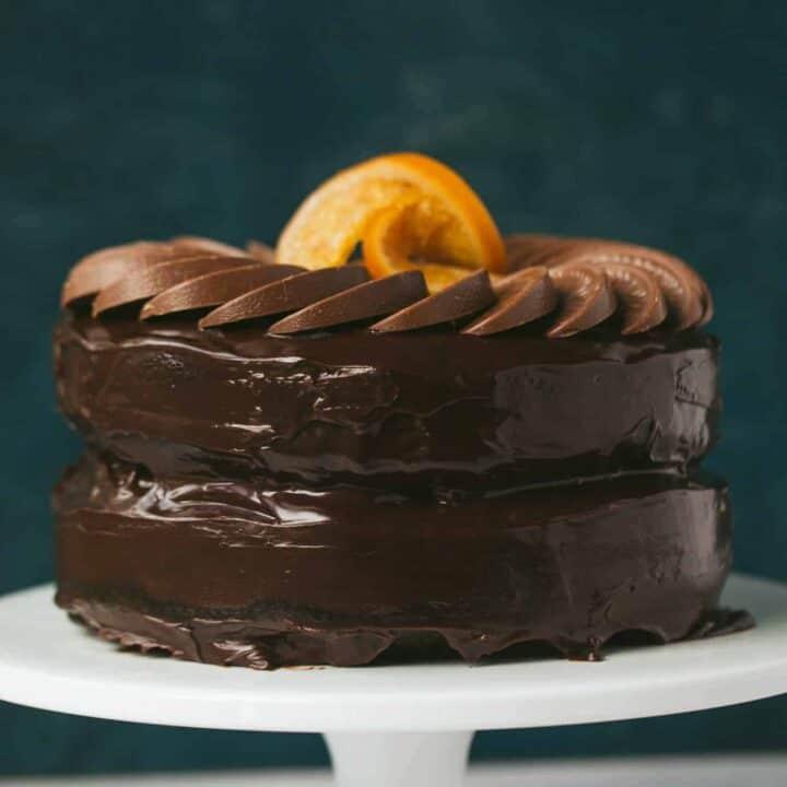 A chocolate orange cake