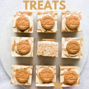 9 Rice Krispie Squares Pinterest image with text overlay.