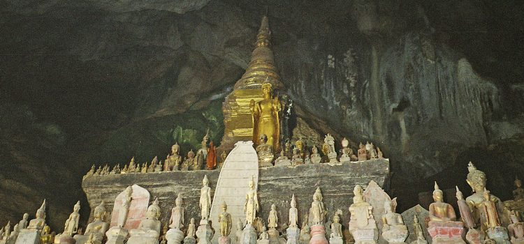 Miniature Buddhas in the Pak Ou caves