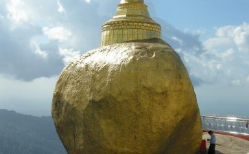 To the Golden Rock Pagoda in a truck