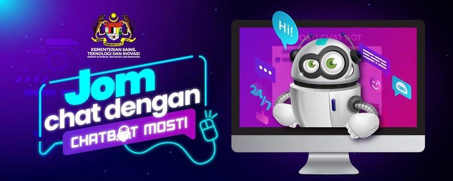 JOM Chat dengan Chatbot MOSTI