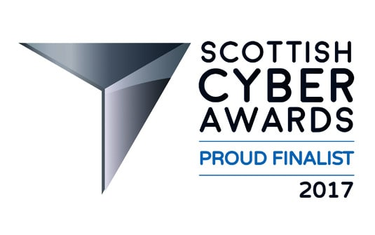 Finalist in the 2017 Scottish Cyber Awards -