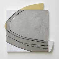 """werk van Conny Dénis, Acryl op doek, 60/60, """"Cypraea"""" l"""