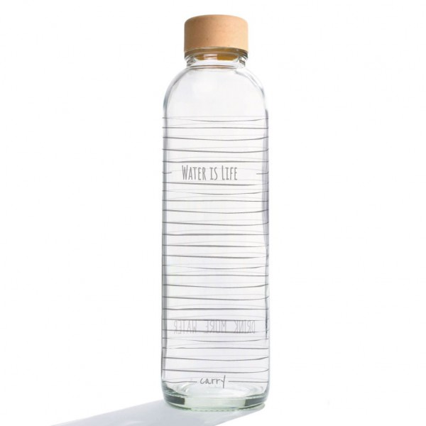 CARRY Glastrinkflasche 0,7l - Water is Life, CARRY, Deutschland