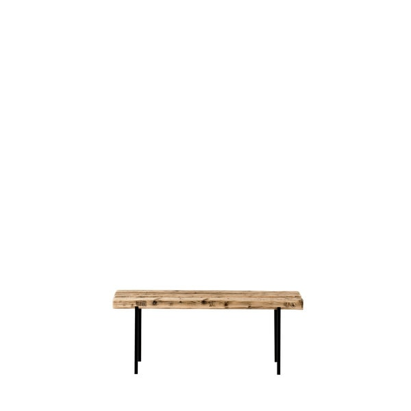 Bench old wood 01 black M, weld & co, Germany