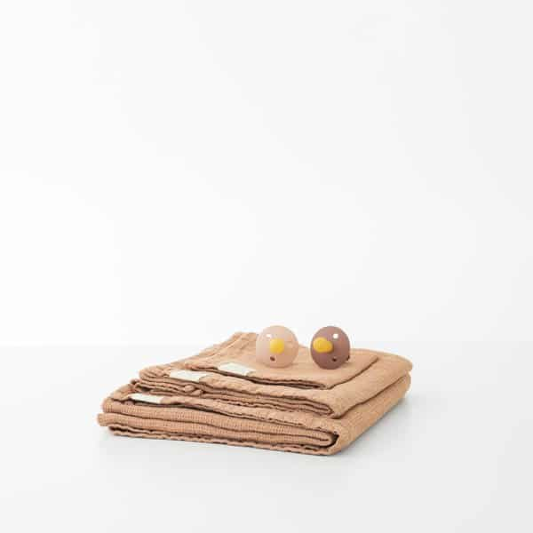 Cafe Creme Kids Washed Linen Waffle Towel - Lithuania