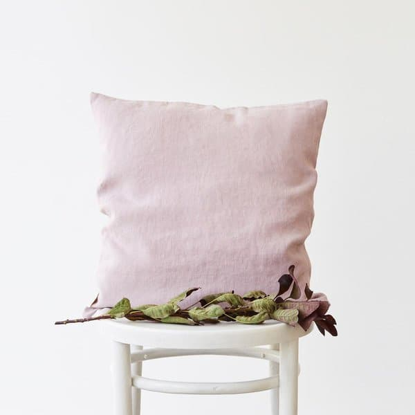Pink Lavender Washed Linen Cushion Cover - Lithuania
