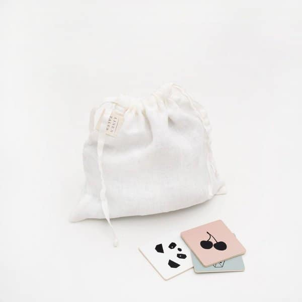 White Kids Washed Linen Toiletry Bag - Lithuania