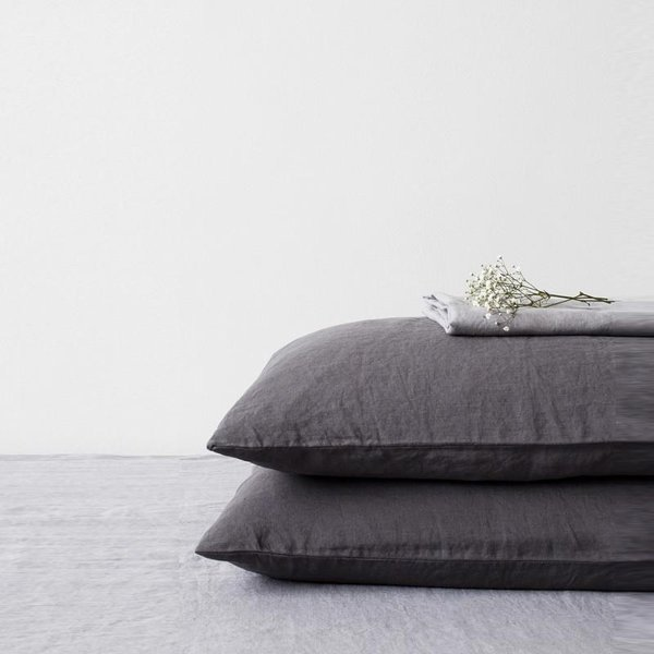 Special Edition | Graphite Washed Linen Pillow Case - Lithuania