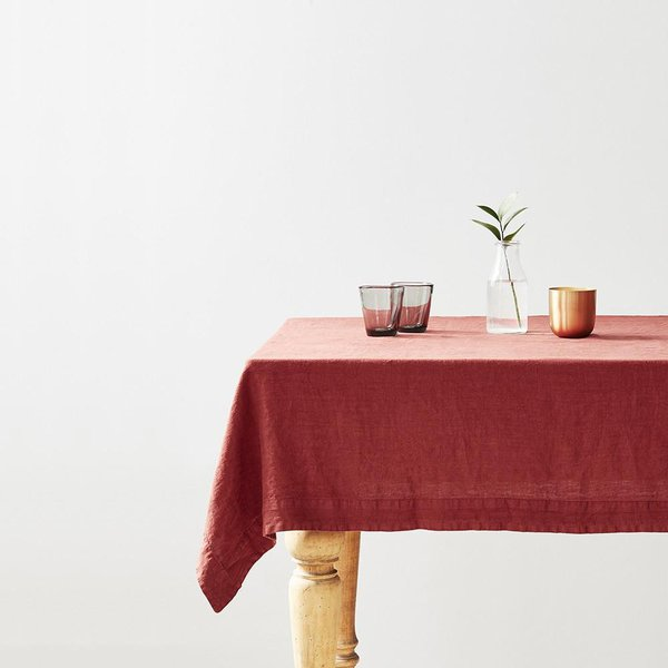 Red Pear Washed Linen Tablecloth - Lithuania
