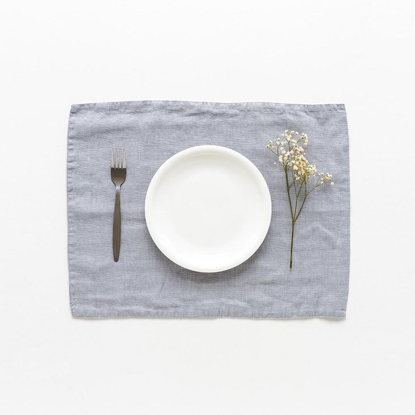 Light Grey Washed Linen Placemat - Lithuania