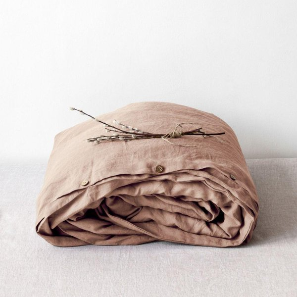 Cafe Creme Washed Linen Duvet Cover - Lithuania