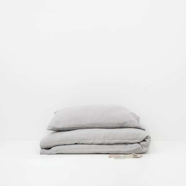 Light Grey Kids Washed Linen Bed Set - Lithuania