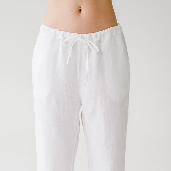 White Sleepwalker Pyjama Trousers - Lithuania