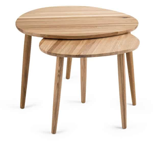 Solidwood Pebble shape Nested tables in Oak - South Africa