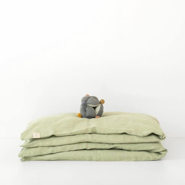 Sage Kids Washed Linen Duvet Cover - Lithuania
