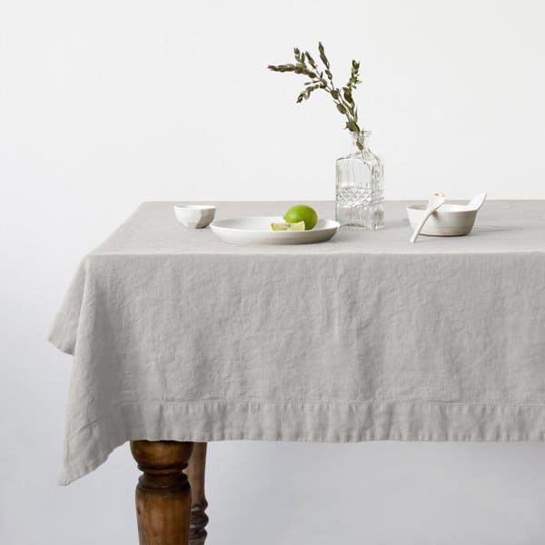 Silver Washed Linen Tablecloth - Lithuania